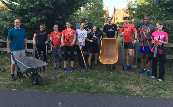 Mulching in Walpole Park - Keep fit while helping the trees