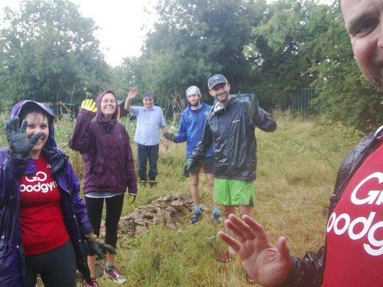 GoodGymers became the pond life for a torrential task in Rose Hill
