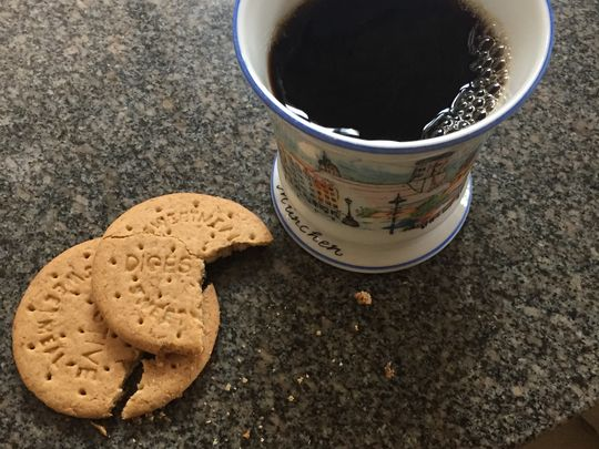 You can't do a zoom meeting without coffee and biscuits