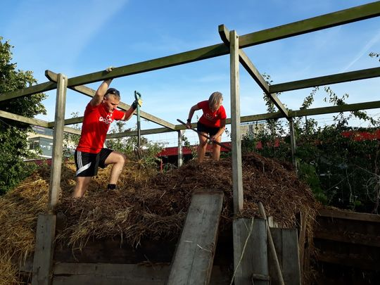 Pagoda Building and Compost Turning at Stepney City Farm
