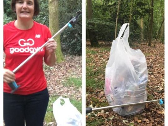 Litter pick on the Common after yesterday's hot weather