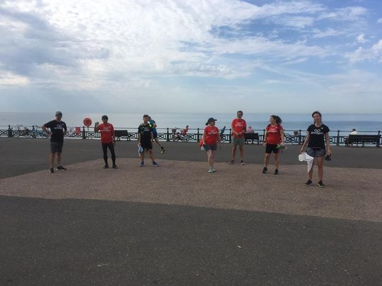 Saturday sea dipping litter pickers