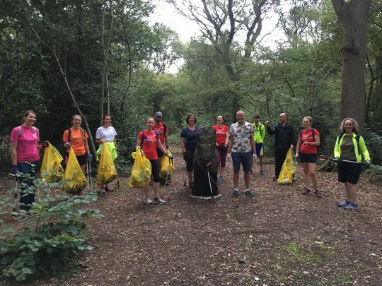Litter-ally storming through Magdalen Wood