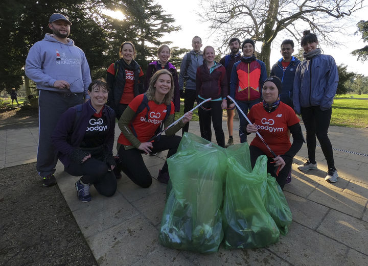 Litter picking in North Acton Playing Fields