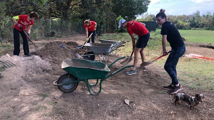 Help continue to clear vegetation and shift dirt for the new pavilion in Blondin Park