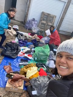 Rain or shine the sorting must go on