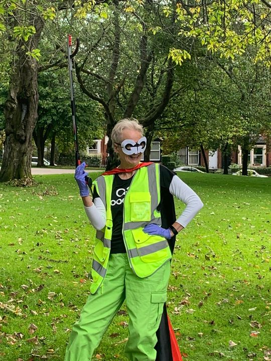 Fighting dirty. Keeping Potternewton park litter free!