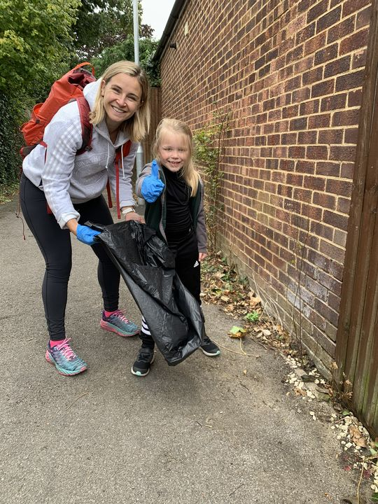 Litter picking all the way to the park!