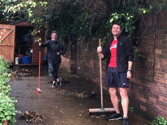 Having a rake of a time!