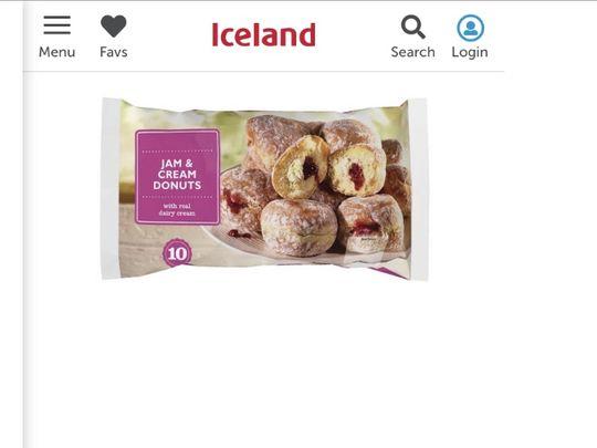 Iceland food shop