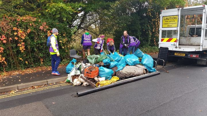 Putting a rake on the fly tipping.