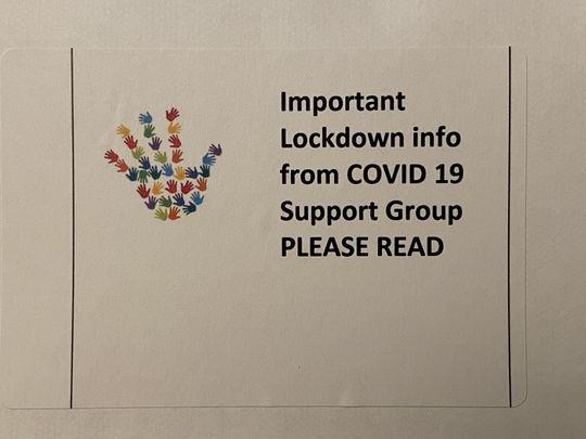 Delivering COVID-19 Support Group Leaflets