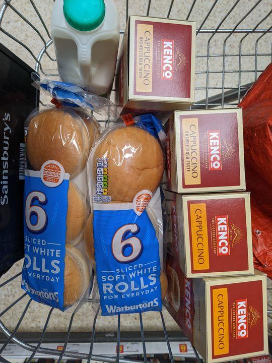 Deliver groceries for Mrs D