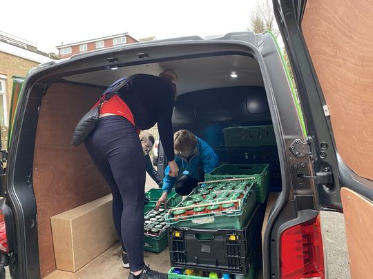 'CAN YOU BELIEVE IT, WE'RE CREATING GREAT PROGRESS AT THE BEXLEY FOOD BANK