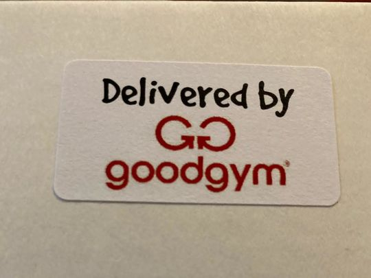 QUALITY STREET Deliveries by the GoodGym HEROES help the Prospect Hospice CELEBRATIONS!