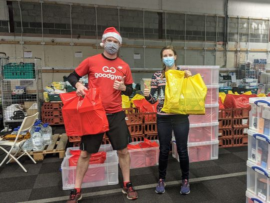Our presents was requested, at the foodbank