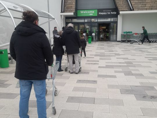 Shopping for Mr T - Asda very busy