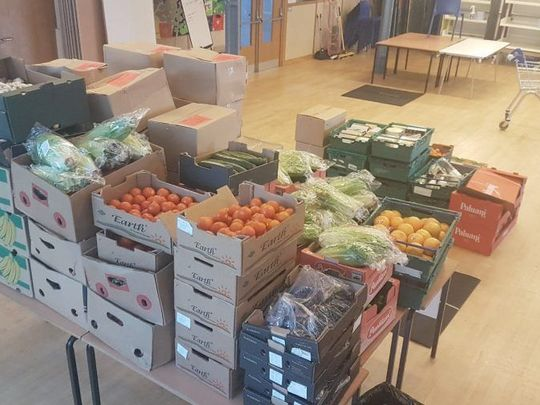 New year, same food parcels