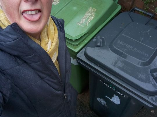 Lunchtime litter pick in the rain