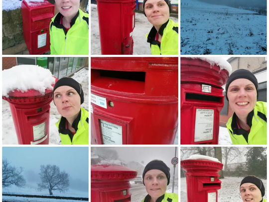How did post box cross the road?