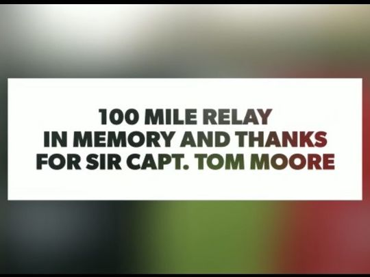 I would run 100 miles and I would run 100 MOORE!
