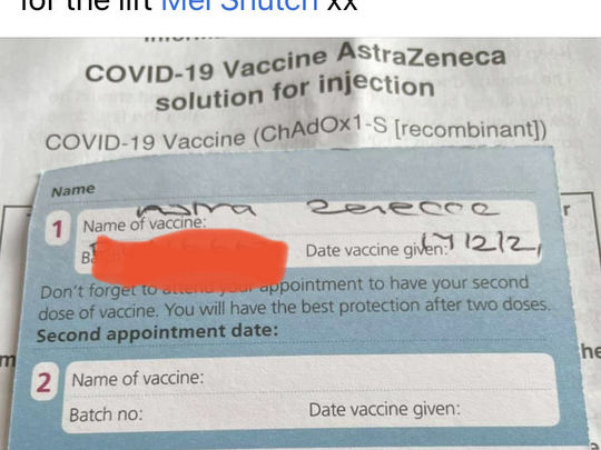 Another vaccination!