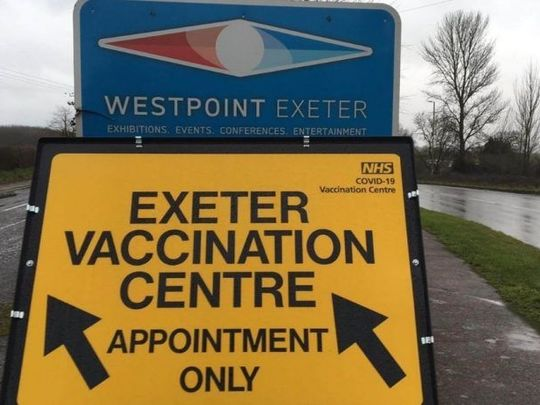 Volunteering at Exeter Covid vaccination centre