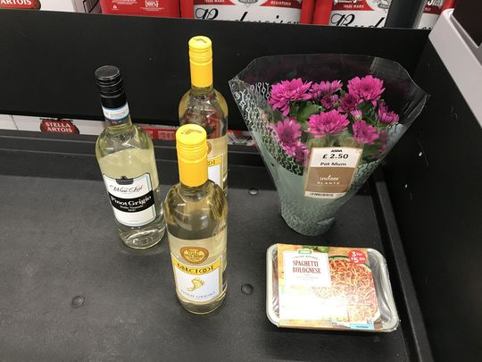 Flowers in the Wine-dow