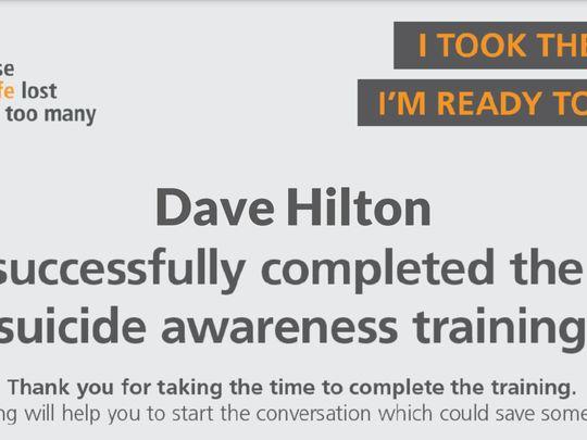 Suicide awareness training