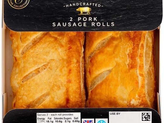 On a sausage roll for Mrs J