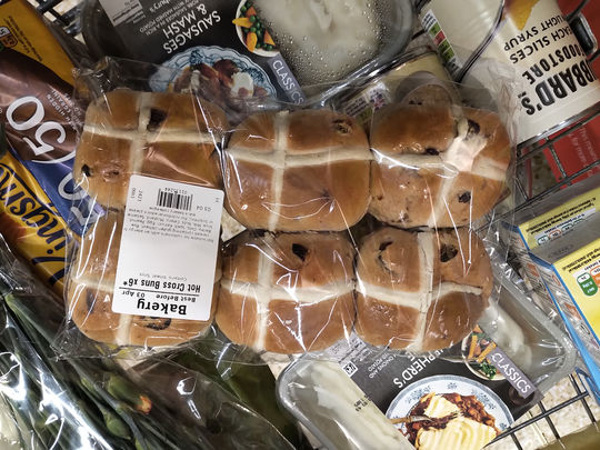 Here comes the hot cross bun