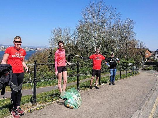 Goodgym Mussel in on Penarth