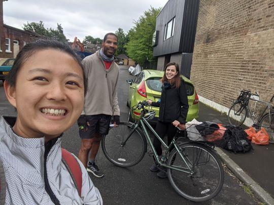 Cycling len-til the the rain stops