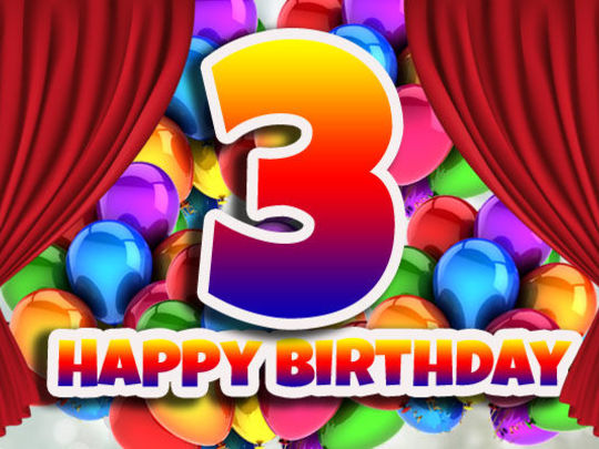 3 is the magic number - HAPPY BIRTHDAY!