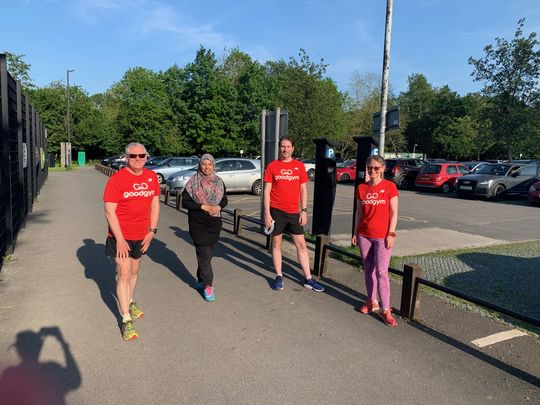 Sun's out.....GoodGym t shirts are out