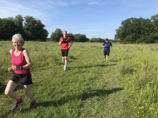 Social run in the countryside around Ockwells