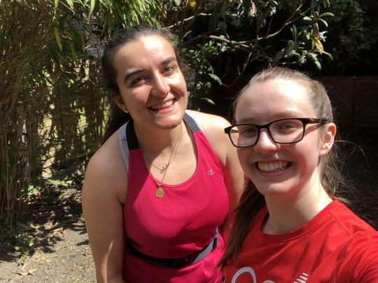 2 volunteers and 1/2 a garden