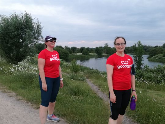 Social run along the Thames and Jubilee rivers