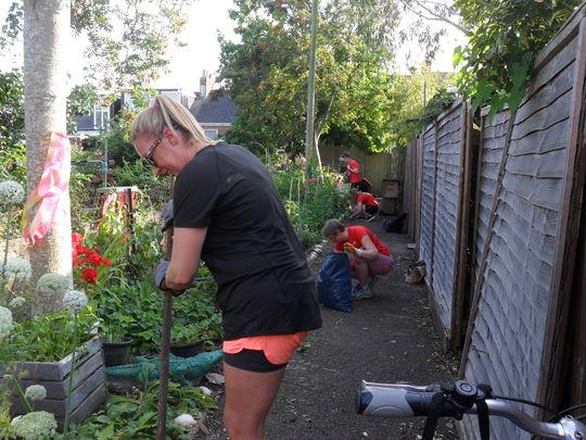 Weeding in the secret garden