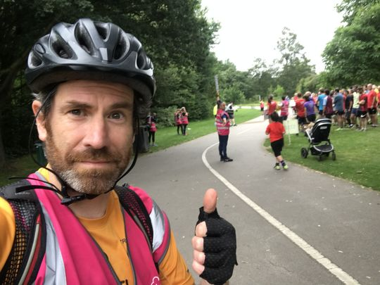 Leading out the return of PARKRUN