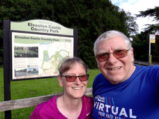 A reign-y run at Elvaston Castle