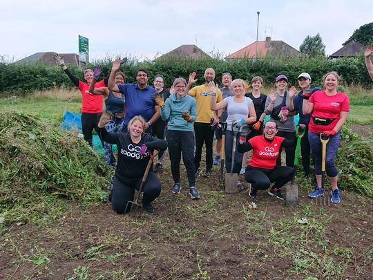 Weed done it! Welcome to GoodGym Luton!