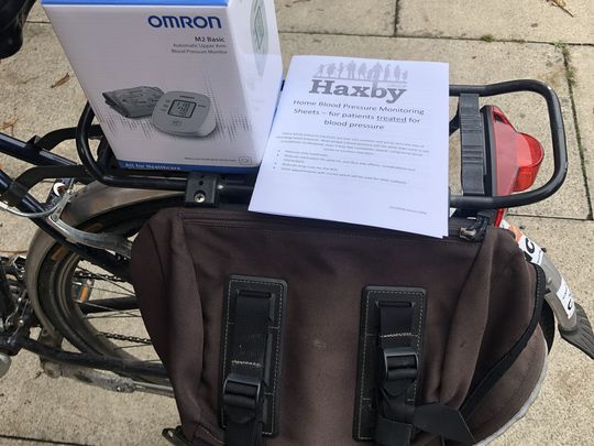 Collecting and delivering Blood Pressure Monitor