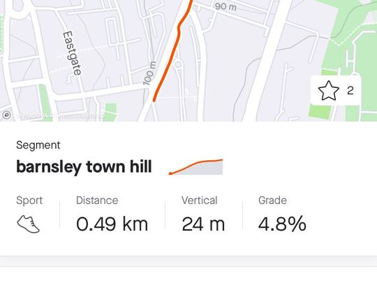 Barnsley Strava Segments: Eldon Street N