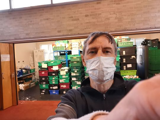 It was very Frank at the food bank
