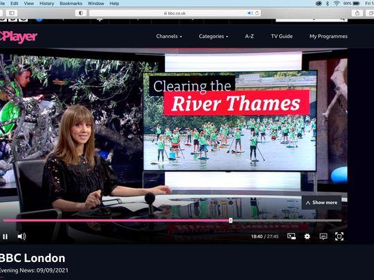 SUP Thames Litter Pick