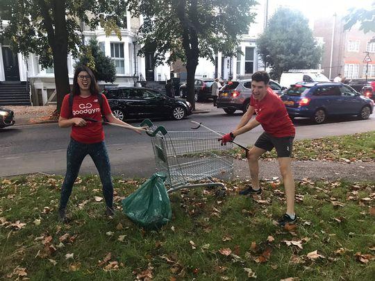 Litter-ally trollied!