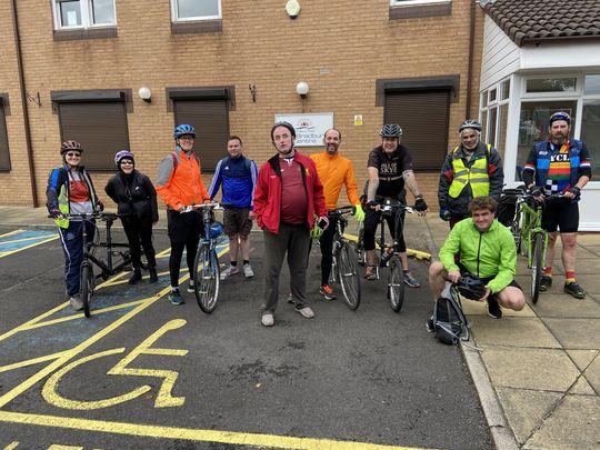 Not quite the Tour de France but we were a tour de force