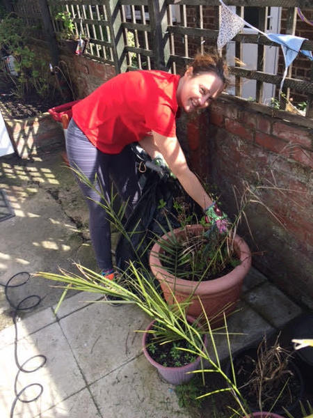 Tidy the garden for Ms B
