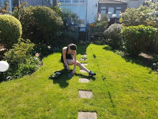 Weeding and cutting grass for Mrs P
